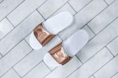 7e0106524a1 Nike Air Jordan Hydro 5 Pinnacle - Metallic Bronze Slides - 854555-105  Limited