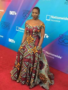 Items similar to Maxi dress in African fabric/full skirt maxi dress/off shoulder maxi dress. African Print Dresses, African Dresses For Women, African Attire, African Wear, African Fashion Dresses, African Women, African Prints, Ghanaian Fashion, Nigerian Fashion