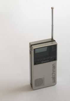 Vintage Sony Watchman, circa 1985. Mine is in a drawer. It's functional or rather it was up until the switch to digital broadcasting.