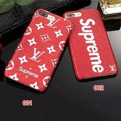 超レア!supreme&lv iPhonex iPhone8 ケース 薄型 ヴィトンxシュプリーム iPhone7PLUSケース ペア用