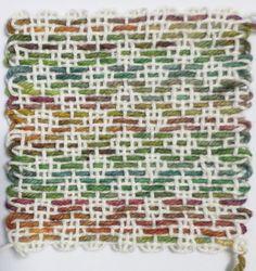 Overshot Diamonds pattern for pin looms.