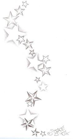 Tattooflash Stars Shadings by *2Face-Tattoo on deviantART