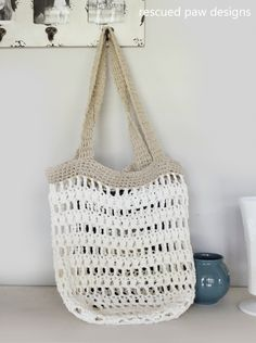 Market Tote Bag Crochet Pattern is a great FREE crochet pattern from Rescued Paw Designs. Find this free tote bag pattern and much more!