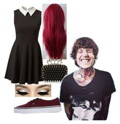 """""""Night out with Oliver Sykes"""" by redclayfaerie ❤ liked on Polyvore featuring Vans and Sykes"""