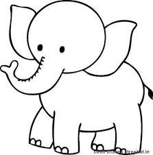 Baby Elephant Coloring Pages | Cute Baby Elephant coloring page ...