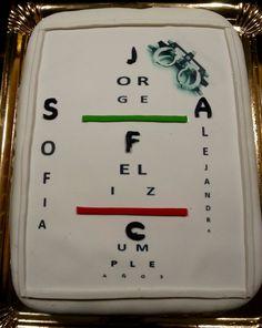 Tarta Tabla Optométrica