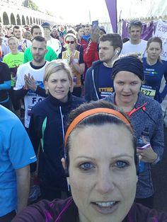 In the starting chute at Brighton Half Marathon 2014