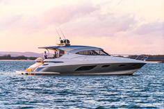 6000 Sport Yacht Platinum Edition - Riviera - Australia's Premium Luxury Motor Yacht Builder Low Deck, Side Deck, Volvo Diesel, Sport Yacht, Yacht Builders, Super Yachts, Boats For Sale, Sitting Area, Motor Yachts