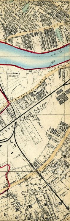 Whitbread's Map Of London 1865 London Map, Old London, Map Globe, Old Maps, City Maps, Vintage Maps, History Facts, Geography, How To Plan