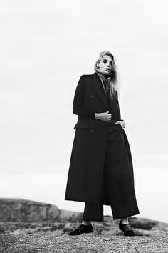 Black and white editorial.