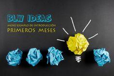 BLW IDEAS MENU EJEMPLO PRIMEROS MESES