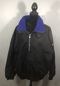 Mens XL Descente Pullover Coat With Hide A Way Hood Black  | eBay Mens Xl, Athletic, Pullover, Coat, Jackets, Vintage, Clothes, Black, Fashion