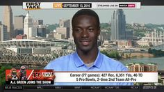 ESPN First Take September (9-13-2016) - A.J. Green On Bengals, Steelers ...