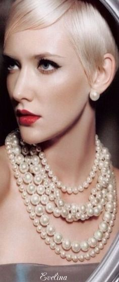Multi strand Pearls and earrings Pearl Jewelry, Pearl Necklace, Perfect Red Lips, String Of Pearls, Pearl And Lace, Pearl Cream, Beautiful Lips, Pretty Little, Fashion Jewelry