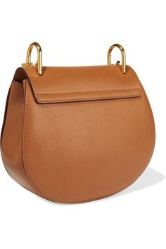 Chloé - Drew Small Leather And Suede Shoulder Bag - Camel - one size