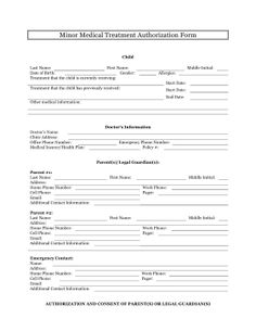 Medical Consent Form  Daily Medical Forms