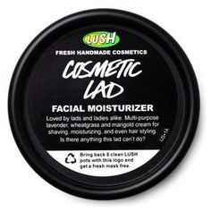 Cosmetic Lad moisturizer from lush cosmetics