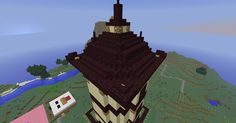 Asian Inspired Tower Exterior (Roof Detail)