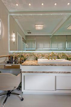 Penteadeiras em quartos, banheiros e closets - veja modelos lindos! - Decor Salteado - Blog de Decoração e Arquitetura