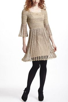Shimmered Crochet Dress #anthropologie