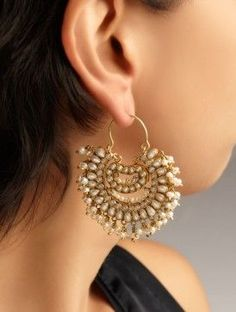 Pearl Jhumka Earrings