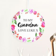 Personalised Birthday Gifts for Grandma Birthday Gifts For Grandma, Grandma Gifts, Retro Sweet Hampers, Cut Glass Vase, Fabulous Birthday, Personalized Birthday Gifts, 1st Anniversary, Easter Eggs, Girl Birthday