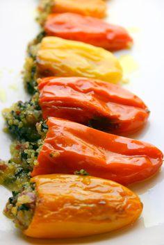Peperoni baby ripieni di quinoa