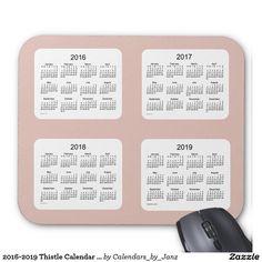 2016-2019 Thistle Calendar by Janz Mousepad