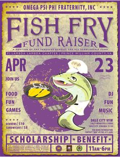 Great poster for a fish fry fundraising event. You can also do the same type of fundraising event with a clam bake, a shrimp boil, a lobster fest, a beach party, etc. Fundraising Poster, Nonprofit Fundraising, Fundraising Events, Fundraising Ideas, Fried Fish, Fish Fry, Lobster Fest, Church Fundraisers, Youth Group Activities