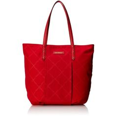 Vera Bradley Preppy Poly Tote Bag ($50) ❤ liked on Polyvore featuring bags, handbags, tote bags, preppy tote bags, tote purses, red tote, handbags totes and summer purses