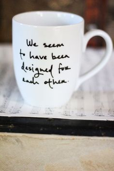 Jane Austen quote on a tea mug = perfection