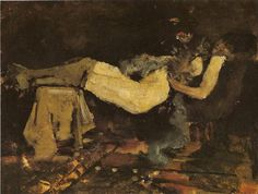 George Hendrik Breitner was born in Rotterdam in He enrolled in the Art Academy in The Hague in later working as an art teacher at the Leiden academy Ars Aemula Naturae. Piet Mondrian, Rotterdam, Dutch Painters, Art Academy, Female Images, Vincent Van Gogh, Figurative Art, Art History, Painting & Drawing