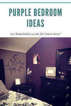 How to Make Purple Bedroom Bedroom Wall, Bedroom Ideas, Bedroom Decor, How To Make Purple, Couples Apartment, Purple Bedrooms, Focal Wall, Married Life, Romantic