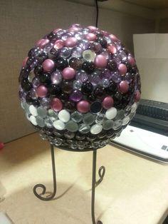 Bowling ball gem gazing ball birthday gift #50!!