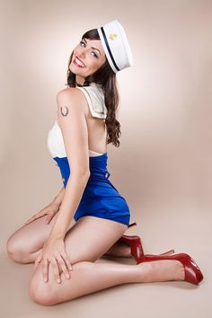 this pin up was what my zombie pin up tattoo was based off of. still love this picture.