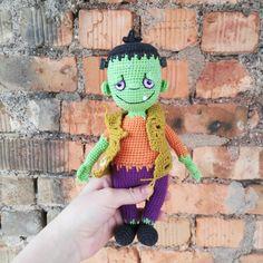 Frankenstein Monster Crochet PATTERN, Amigurumi Halloween doll + coloring Crochet Animal Patterns, Crochet Doll Pattern, Stuffed Animal Patterns, Crochet Patterns Amigurumi, Crochet Dolls, Doll Patterns, Knitting Patterns, Halloween Doll, Halloween Crochet