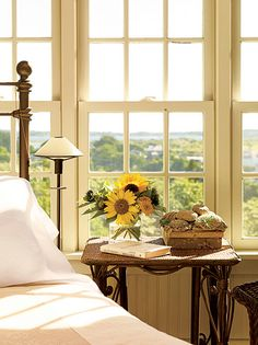 Sunflowers By the Bed