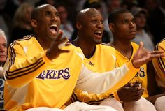 Kobe Bryant and Lamar Odom Photo - Houston Rockets v Los Angeles Lakers, Game 5