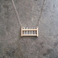 Just Chemistry Science Geek Test Tube Rack Necklace- I NEED THIS!!! soooo cute!