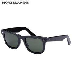 da16282526e 2018 Top Quality G15 GLASS Lens Sunglasses Men Luxury Brand Rivet Design  Goggles Elegant Female Square