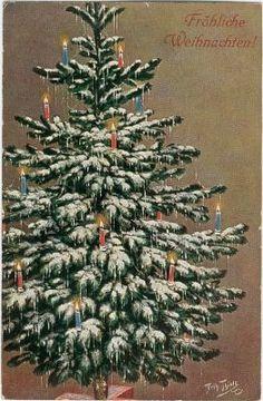 §§§ : christmas card tree : ca.1900