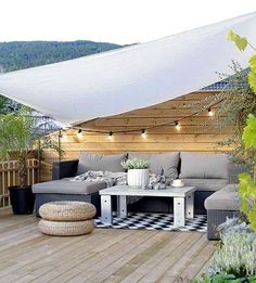 : 25 tips and tricks on how to redesign your terrace - ., balcony roof deck : 25 tips and tricks on how to redesign your terrace - . Outdoor Furniture Sets, Outdoor Decor, Courtyard Gardens Design, Terrace Design, Patio Design, Wooden Decks, Comfort Design, Small Courtyards, Pergola Attached To House