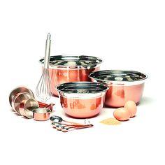 Living & Co Copper Mix and Measure Set 12 Piece