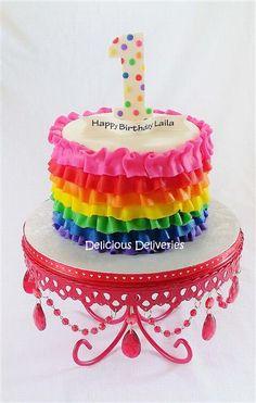 rainbow smash cake -