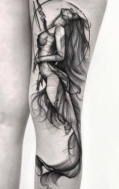 tatuagem tatuagem cascavel tatuagem de rosa tatuagem delicada tatuagem e piercing manaus tatuagem feminina tatuagem moto clube tatuagem no joelho tatuagem old school tatuagem piercing tattoo shop Mermaid Tattoo Designs, Mermaid Drawings, Mermaid Tattoos, Drawing Ariel, Love Tattoos, Beautiful Tattoos, Black Tattoos, Body Art Tattoos, Tattoo Girls