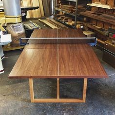 Custom-made wood ping pong table. From builtthings.com - Tampa. Local & RAD.
