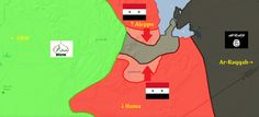 Aleppo supply route map