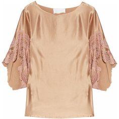 Rosamosario Honk Kong Vertigo top : nude silk-satin. so pretty