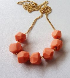 Melon Geo Beaded Necklace