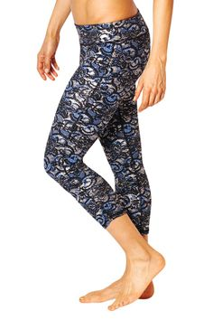Womens's Activewear Clothing l Body Rock Sports Long Luxe Capris : BR604A